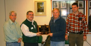 District officials receive the S.H.A.P.E. award from the State of Maine Bureau of Labor